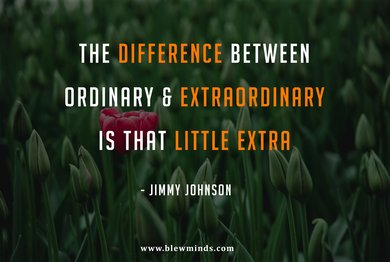 """Read more about the article """"The difference between ordinary and extraordinary is that little extra."""" – Jimmy Johnson"""
